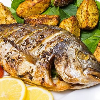 Sea bass / bream grilled