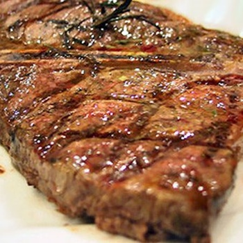 Rump steak grilled